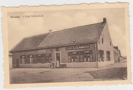 Vilvoorde - Deelgemeente Houtem - 't Oud Gildenhuis (gelopen Kaart Met Zegel) ZELDZAAM ! - Vilvoorde