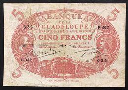 GUADELOUPE GUADALUPE Guadalupa 5 FRANCS  Pick#7 LOTTO 1131 - Frankrijk