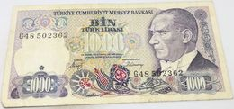 Billete Turquía. 1000 Liras. 1986. Original. Muy Buena Conservación - Turchia
