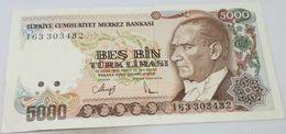 Billete Turquía. 5000 Liras. 1992. Original. Excelente - Muy Buena Conservación - Turchia
