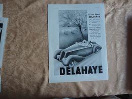 Pub - 24 Avril 1937 - AUTOMOBILE - DELAHAYE - - Pubblicitari