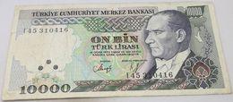 Billete Turquía. 10000 Liras. L1970. Original. Muy Buena Conservación - Turchia