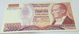 Billete Turquía. 20000 Liras. 1988. Original. Muy Buena Conservación - Turchia