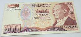 Billete Turquía. 20000 Liras. 1988. Original. Excelente - Muy Buena Conservación - Turchia