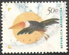 027. ARGENTINA (50C) USED STAMP BIRDS - Usati