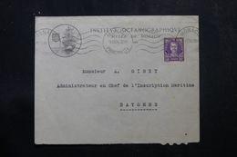 MONACO - Enveloppe Du Musée Océanographique Pour Bayonne En 1934, Affranchissement Plaisant - L 64216 - Briefe U. Dokumente