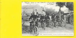 Section De Motocyclistes Belges Près D'Ostende - War 1914-18