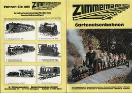 Catalogue ZIMMERMANN 1984 Garteneisenban Spur '' & Dampfmaschinen - Libros Y Revistas
