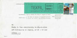 Caixa Geral Depositos Mechanical  1972  Postmark ,  IRU Estoril  Stamp ,  TEXFIL  , S. Mamede De Infesta - Postmark Collection