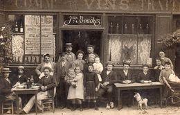 CARTE-PHOTO De FONTENAY Aux ROSES - Devanture Du Café Jules BOUCHEZ. - Fontenay Aux Roses