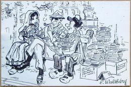 CP Carte Postale Numérotée De WALTHERY (hommage à Georges Simenon) Pour Le 3eme Salon BD & Philatélie, 1994 - Cartes Postales