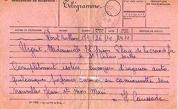 C4 1939/40 Télégramme Et Son Enveloppe - Marcophilie (Lettres)