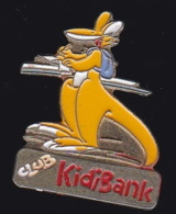 65619- Pin's-club, Kidibank.Kangourou. - Banques