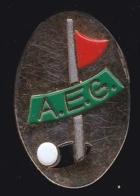 65637- Pin's-L Association Européenne De Golf - Golf