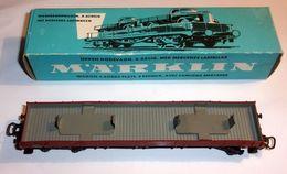 Wagon À Bords Plats - 4 Essieux - Vide - Marklin 4515 - Elektrische Artikels