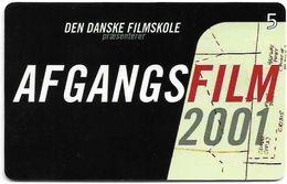 Denmark - Tele Danmark (chip) - Afgangsfilm 2001 - TDP356 - 05.2001, 10.300ex, 5kr, Used - Denmark