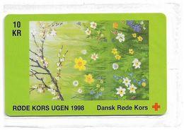 Denmark - Tele Danmark (chip) - Red Cross Week 1998 - TDP212 - 04.1998, 1.300ex, 10kr, NSB - Denmark