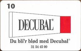 Denmark - Tele Danmark (chip) - Decubal - TDP187 - 12.1998, 1.800ex, 10kr, Used - Denmark