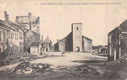 Bazeilles (08) - La Place Et L'Eglise Au Lendemain De La Bataille - France