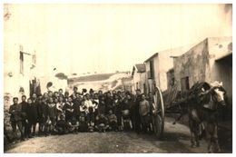Carte Photo 1, Enfants Du Village Et Attelage Cheval Tensi En Italie - Altri