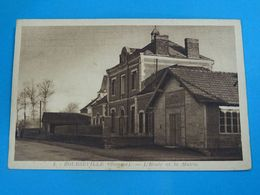 80 ) Bourseville - N° 4 - L'ecole Et La Mairie - Année  - EDIT - A. MILAN - Autres Communes