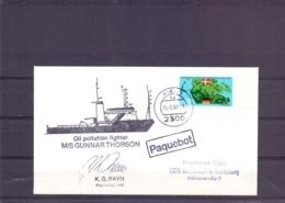 Danmark - Oil Pollution Fighter M/S Gunnar Thorson - Kiel 15/2/83    (RM15266) - Bateaux