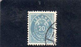 ISLANDE 1882 O OUTREMER DENT 12 - Gebraucht