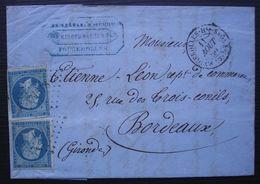 Fougerolles Haute Saône 1860, Barret Jeune Kirsch En Gros Pc 1318 Sur 2 N°14A - 1849-1876: Periodo Clásico