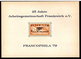 RC 17957 FRANCE BLOC MERSON EXPOSITION FRANCOPHILA 79 A MUNICH ALLEMAGNE NEUF (*) TB - Commemorative Labels