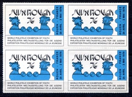 RC 17958 FRANCE VIGNETTE EXPOSITION PHILATELIQUE JUVAROUEN 76 BLOC DE 4 BORD DE FEUILLE NEUF ** TB - Commemorative Labels