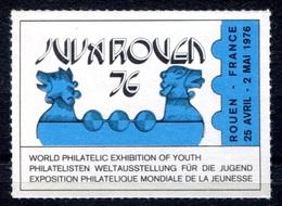 RC 17959 FRANCE VIGNETTE EXPOSITION PHILATELIQUE JUVAROUEN 76  NEUF * TB - Commemorative Labels