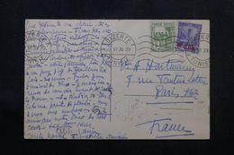TUNISIE - Affranchissement De Bizerte Sur Carte Postale En 1939 Pour La France - L 64239 - Covers & Documents