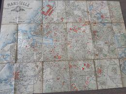 Marseille - Plan De La Ville Et Des Environs - Année 1891 - Librairie Laffitte - Henri Leleu  ... Lot140 . - Cartes Géographiques