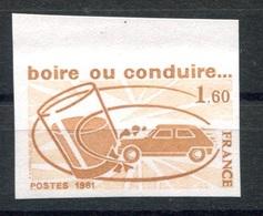RC 17961 FRANCE N° 2159 ESSAI DE COULEUR BOIRE OU CONDUIRE....NEUF ** TB - Proofs