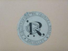 Ex-libris Illustré XIXème - BELGIQUE - Georges ROLIN (Bruxelles) - Ex Libris