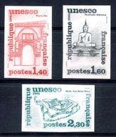 RC 17962 FRANCE N° 68 / 70 ESSAI DE COULEUR SÉRIE UNESCO SERVICE NEUF ** TB - Proofs