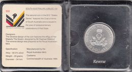 1986 South Australia State Series Uncirculated $ 10 Coin In Original Ram Flip - Sets Sin Usar &  Sets De Prueba
