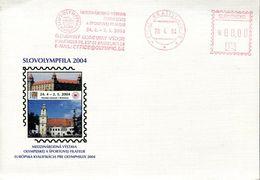55383 Slovensko.,red Meter Freistempel 2004 Bratislava, Olympic Olymphilex 2004 - Slovacchia