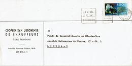 Caixa G Depósitos Mechanical  1972  Postmark ,  Wolframite  Stamp ,  TAXIS PALHINHA , Cooperativa Lisbonense Chauffeurs - Postmark Collection