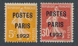 N-913: FRANCE: Lot Avec  Préo N°30 32  NSG  Signé JF Brun  (2ème Choix, 30 Clair- 32 Pelurage Sur 0 De 30 - Préoblitérés