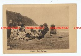 SILLI - SULLA SPIAGGIA F/PICCOLO VIAGGIATA 1937 ANIMATA - Salerno