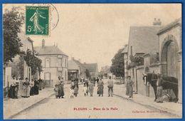 RARE CPA 51 PLEURS - Place De La Halle - Other Municipalities