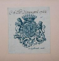 Ex-libris Héraldique Illustré XVIIIème - BELGIQUE - PREUD'HOMME D'HAILLY DE NIEUPORT - Ex Libris