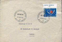 55389 Switzerland, Circuled Cover 1958 Geneve Atom Conference Geneve - Atom