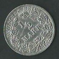 Moneta Impero Tedesco ½ Mark 1918 Argento (40) - [ 2] 1871-1918 : Imperio Alemán