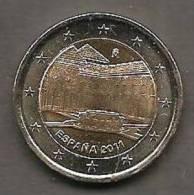 2011-ESPAÑA.MONEDA 2 EUROS.LA ALHAMBRA DE GRANADA. SIN CIRCULAR - España