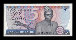 Zaire 5 Zaires 1985 Pick 26A SC UNC - Zaire