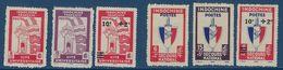 "Indochine YT 278 à 283 "" Cité Universitaire Secours National "" 1943-45 Neuf** - Ungebraucht"