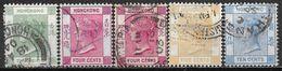 1900 HONG KONG Set Of 5 Used Stamps (Michel # 55-58) CV €16.20 - Usati