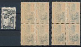 N-931: FRANCE: Lot Avec 1429** 2 Blocs De 4 Recto Verso, Papier Huileux + 1 Timbre Fortement Décentré - Variétés Et Curiosités